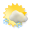 Partly sunny with thunderstorms