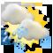 Cloudy, sleet