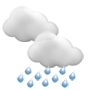 Very cloudy, partly rainy